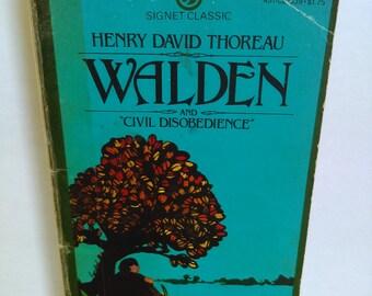 Walden & Civil Disobedience by Henry David Thoreau Signet Paperback
