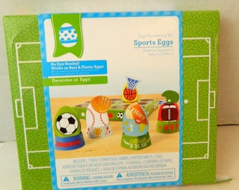Sports themed Egg craft decorating kit children