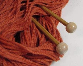 Orange Naturally Dyed Wool Yarn