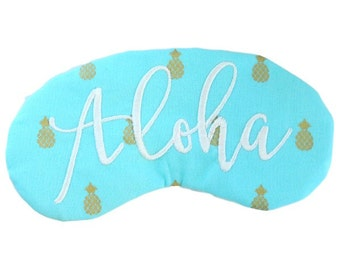 Aloha Pineapples Sleep Eye Mask