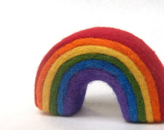 Rainbow - Needle Felted Rainbow