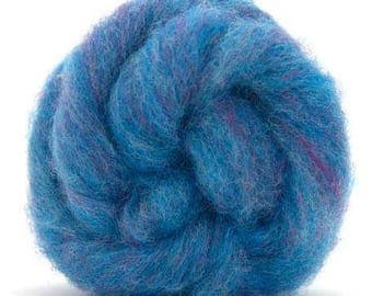 Corriedale Bulky Wool Roving - Bilberry - 4 ounces