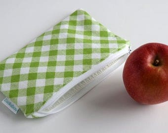 Reusable Snack Bag - Back to School Supplies - Zero Waste Lunch Sack - BPA Free - Eco Bag - Custom Made - Many Print Choices Available