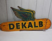 Vintage Dekalb Corn Metal Farm Sign