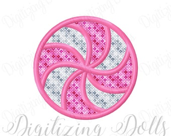 Swirl Candy Applique 2 Machine Embroidery Design 1x1 2x2 4x4 5x5 peppermint INSTANT DOWNLOAD