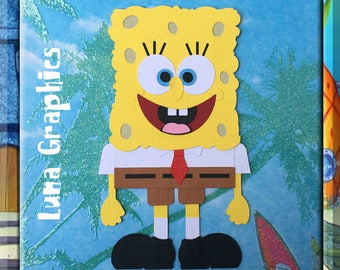 SPONGE BOB Embellishments Paper Piecing card making and scrapbooking