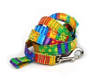 ON SALE Colorful Dog Leash - Happy Go Lucky Stripe - 5 Feet Long