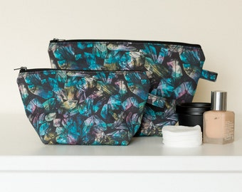 Crystal Print Wash Bag available in Small and Large // Makeup Case - Toiletry Bag - Cosmetic Pouch - Gifts for Her - Gifts for Mum