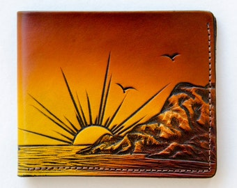 Leather Wallet / Sunset on the West Coast