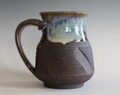 Ceramic Mug, 14 oz, handmade ceramic cup, handthrown mug, stoneware mug, pottery mug, unique coffee mug, ceramics and pottery