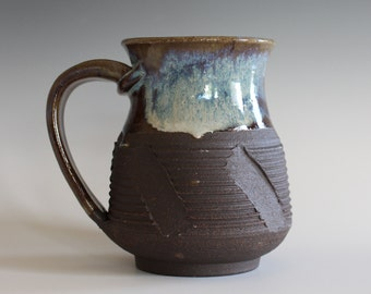 Ceramic Mug, 14 oz, handmade ceramic cup, handthrown mug, stoneware mug, pottery mug, unique coffee mug, ceramics and pottery