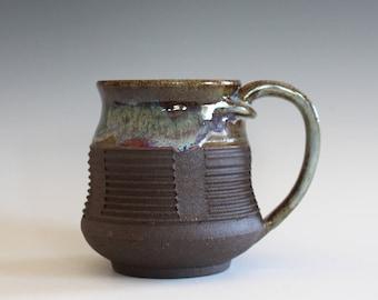 Pottery Coffee Mug, 12 oz, handmade ceramic cup, handthrown mug, ceramic stoneware pottery mug unique coffee mug ceramics and pottery