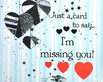 "Missing You, Specialty Greetings,  Miss You Cards,Online Greetings,Just Because Cards,Greeting Cards,Miss You Notes,Customizable Cards,5""x7"""