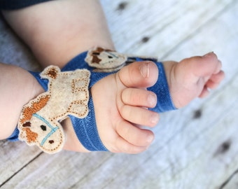 Horse Barefoot Sandals, Horse Baby Sandals, Horse Sock Keepers, Baby Boy Sock Straps, Horse sock straps, Boy Barefoot Sandals