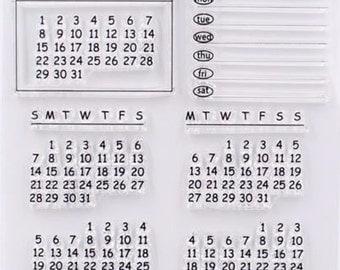 Rubber Stamps Travel Stamps Calendar Stamp for Traveller's Notebook