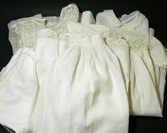 Five Pieces Antique Baby Children's Clothing
