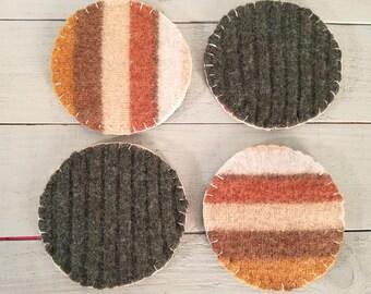 Striped Wool Felt Ornaments