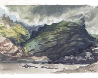 Mýrdalsjökull- mini landscape painting- iceland