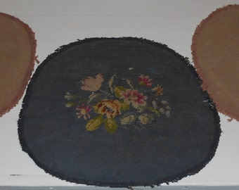 Round Tapestries (3) - Seat Covers - Vintage Tapestry