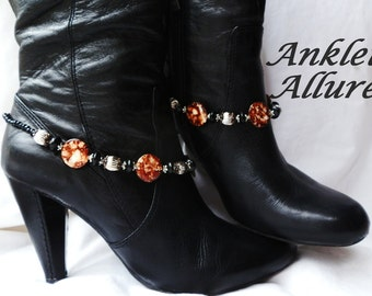 Western Boot Chains Brown Black Boot Jewelry Biker Boot Bracelets Fashion Boot Bling