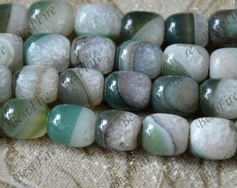 Green column Agate nugget stone Bead,agate stone beads loose strand,agate bead findings,Nugget Random Gemstone Bead loose strands