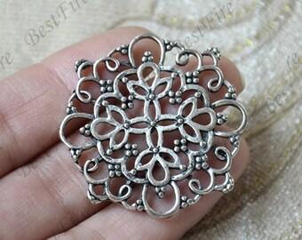 4 pcs Antique silver Filigree Jewelry Connectors Setting,Connector Finding,Filigree Findings,Flower Filigree
