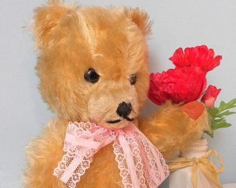 "Vintage Bear - Mohair 15"" Bear - European Toy Teddy - 1960's Toy"