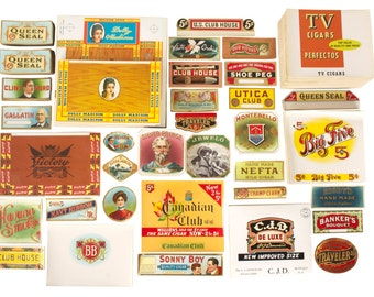 100's & 100's of Cigar Box Labels // Huge Lot // Collection // Unused