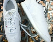 Vintage Reebok Princess White Women's Classic Leather Shoes Size 8.5 8 1/2 D Wide Like M 80's 90's
