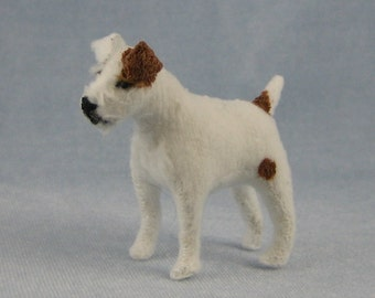 Jack Russell Terrier Soft Sculpture Miniature Dog by Marie W. Evans