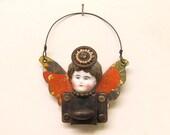 OOAK Angel Ornament Antique Doll Assemblage Art Latch Fairy Ornament