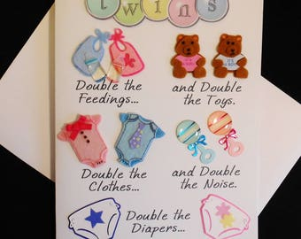 Double Your Joys Twins Greeting Card