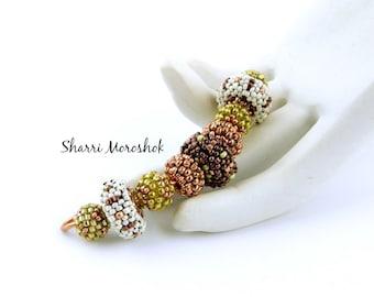 Sale - Reduced 50% - Beaded Beads set of 9 - by Sharri Moroshok