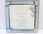 RESERVED for BARBARA Stained Glass Wedding Invitation Frame