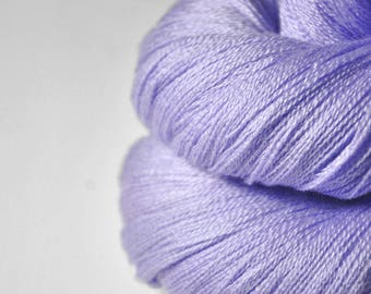 Dyeing lavender - Merino/Silk/Cashmere Fine Lace Yarn