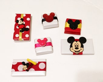 Mickey Mouse Inspired Party Favors - Set of 6 - Chocolate Favors for Kid's Birthday Party