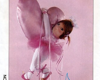 Simplicity 6873 Vintage 80s Sewing Pattern for Ballerina Moon Baby Doll - Uncut