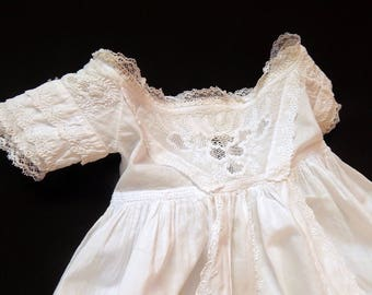 Ayrshire Handmade Christening Gown Elegant Antique with Magnificent Embroidery
