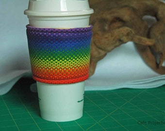 Cushy Rainbow Coffee Sleeve #1