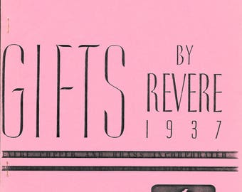 GIFTS by REVERE, 1980's Reproduction of a Vintage 1937 Revere Copper, Brass & Bronze Giftware Catalog