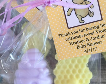 Light Purple Beehive and Honeycomb Winnie the Pooh Soap Party Favors:  Baby Shower Favors, Birthday Favors, Winnie the Pooh, Baby Sprinkle