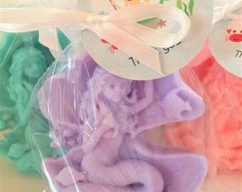 Mermaid Soap Favors:  Mermaid theme, Little Mermaid, Baby Shower Favors, Birthday Favors, Baby Sprinkle Favors, Mermaid Soap, Mermaid