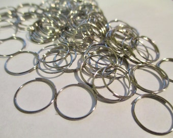 100 Silver Tone 12mm Split Jump Rings Chandelier Crystal Connector Clips