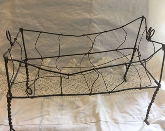 Antique Wire BabyDoll Crib~So many uses!