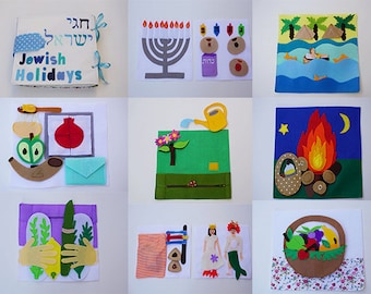 Custom Quiet Book / Jewish Holidays / Educational Toy / Sensory Toy For Toddler And Baby / Felt Activity Book / Busy Book / Quiet Book /