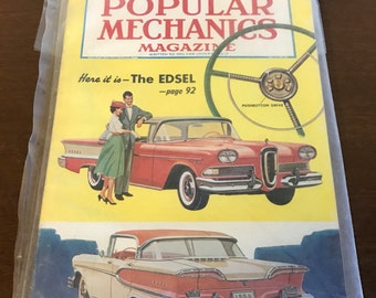 September 1957 Issue of Popular Mechanics Magazine