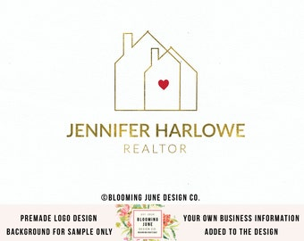 real estate logo realtor logo home logo house logo realty logo premade logo real estate agent logo real estate logos pre made realtor logo