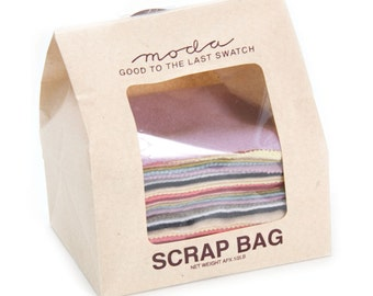 Moda Wool Scrap BAG 1/2 lb of wool fabric rectangles