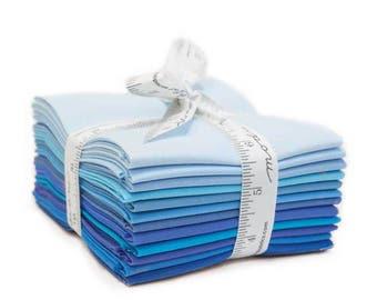 Moda Bella Colors Solids Fat Quarter Bundle Blue -(12) Fat Quarters  9900AB 124