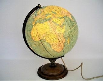 Vintage Illuminated Glass Globe - Pre WWII -Crams c1938